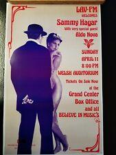 "Sammy Hagar & Aldo Nova 4/11 Promo Poster 14""x22""   WHILE SUPPLIES LAST!"