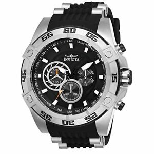 Invicta 25505 Men's 'Speedway' Quartz Stainless Steel and Silicone Casual Watch