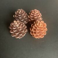 Pine Cone Candle Lot Of 4: Two Different Colors