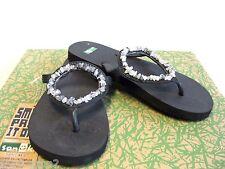 Sanuk Ibiza Gypsy Crystals Flip Flops Women US6/UK4/UK37