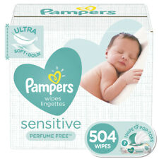 Pampers Sensitive Baby Wipes, 7X Pop-top Packs, 504 count Free Shipping