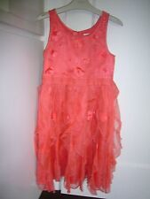 Simply stunning - Next girls 100% Pure Silk Coral dress Size 8