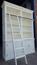 NEW FRENCH PROVINCIAL LIBRARY BOOKCASE SHELF DISPLAY CABINET & LADDER - FCB033