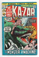 Astonishing Tales #14 Marvel Comics 1972 Gil Kane cover / Kazar / Zabu