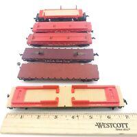 HO Scale - Lot of 6 - Flat Cars - Mix Set - Train Car Model - Free Shipping