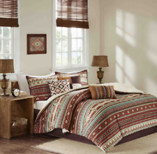 Cal King Size Bedding Comforter Set South Western Rustic Cottage Farm Cabin 7Pc