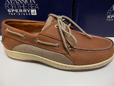 SPERRY TOP SIDER MENS BOAT SHOE BILLFISH 3-EYE DARK TAN SIZE 8
