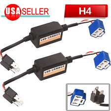2 X H4 HB2 9003 Error Free Resistor Deluxe LED Canbus For Bi-Xenon HID Headlight