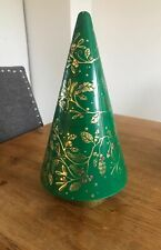 M&S Musical Biscuit Tin Empty Rotating Christmas Tree Collectable Working
