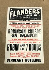 Old Flanders Drive-in Theatre NY Movie Poster - Robin and the 7 Hoods - Rat Pack