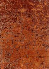 Jaipur rugs Handmade Red Orange Colour 2X3 feet Wool Abstract Area Rug