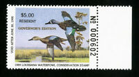 US Duck Louisiana Stamps # 1a XF Governors edition OG NH Scott Value $100.00