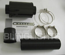 Universal Cold Air Intake Carbon Fiber Heat Shield/Internal Filter Element/Tube