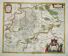 Sachsen Meissen Dresden Leipzig Schandau  Weimar Kupferstich Landkarte 1680
