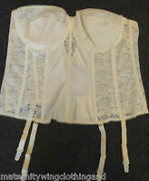 Brand New Dominique Basque Bridal Ivory Strapless 42D and 44F