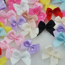 30Pcs Mini Satin Ribbon Flowers Bows Craft Wedding Decor Ornaments Party Supply