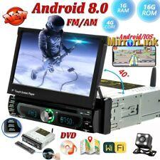 1Din Android 8.0 Autoradio con GPS Navigation DVD Bluetooth AM FM USB MP5 Player