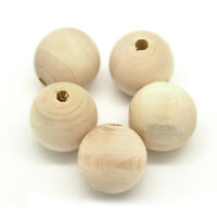100x RounWood Spacer Bead Natural Unpainted Unfinished Wooden Beads Ball 10mm