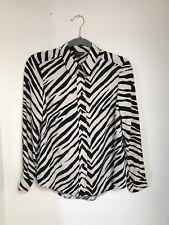 Topshop Zebra Print Button Down Shirt Size 4
