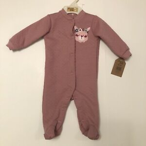 Chick Pea 0–3 Month Lavender Quilted Footed Pajamas, Bunny Sleeper Snap Up, Baby