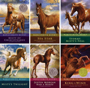 NEW 6 Marguerite Henry Horse Book Set Lot Misty of Chincoteague Sea Star Stormy