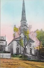 Vintage Hudson Valley Tinted Postcard — First Baptist Church Newburgh New York