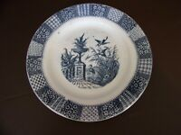 Keller & Guerin Luneville Blue Urn Scene Plate Made In France