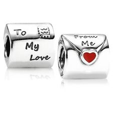 New Authentic Pandora Charm Love Letter 790894EN09 Bead Box Included