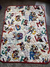Vintage Walt Disney Mickey Mouse Baby ABC Blanket Dundee.