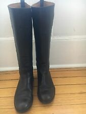 APC Black Leather Knee-High Boots Shoes, Made In Italy, 39 8.5 9
