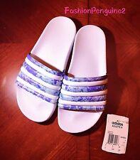 newest c6596 01485 Mujeres Adidas 🔥 Adilette Ocean Blue se Desliza Sandalias Azul Blanco  CP8924, EE. UU. 6, 9