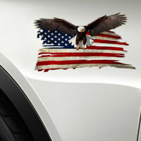 1pc Bald Eagle USA American Flag Sticker Car Truck Window Graphics Decal Decor