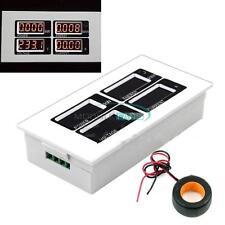 AC 110V 220V Digital 100A watt power meter volt amp Ammeter Voltmeter 80-260V MF
