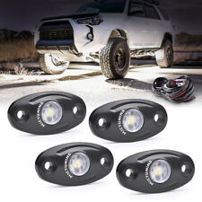 MICTUNING 4x 9W LED Underbody Light Rock Lamp White for Offroad Jeep Truck ATV