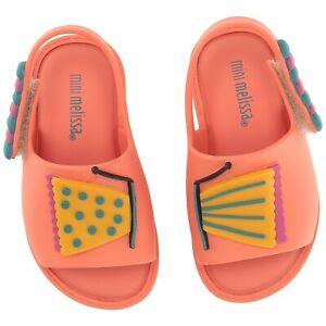 NWT MINI MELISSA Mini Mia Fabula Mary Jane Slipper Sandal Coral 32203-01417
