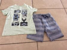 Crazy 8 by Gymboree Brand Boys outfit shirt size 5/6 & shorts size 5