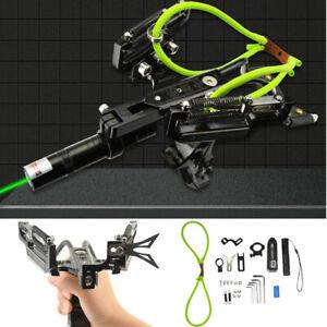 Archery Green Laser Bowfishing Slingshot Catapult Sling Arrow Target Hunting