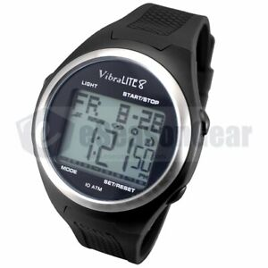 VibraLITE 8 Vibrating Alarm Watch V8-XBK Black, Men's Medication Reminder #10