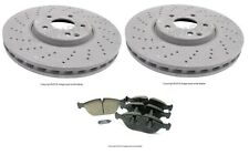 For Mercedes W220 S430 S500 03-06 Front Disc Brake Rotors & Pads KIT OEM Value