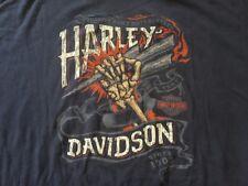 Harley Davidson Skeleton Hand Graphite Shirt NWT Men's XXXL