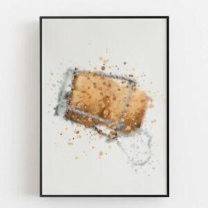 P0064 | Champagne Cork | Wall Art Print | Poster | Liquor | Bar | Restaurant