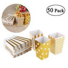 50X Paper Popcorn Paper Box Treat Boxes Bags Candy Container Party Supplie