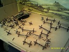 28mm Barbed wire barricade and Czech Hedgehogs Tank Traps Bolt Action Warhammer
