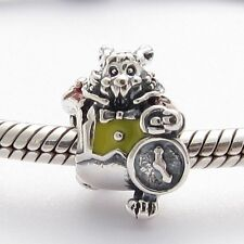 WONDERLAND RABBIT CHARM Bead Sterling Silver.925 for European Bracelets 611
