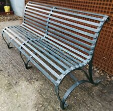 Vintage Heavy Duty Steel Victorian Style Scroll Park / Garden Bench - W: 180cm