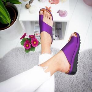 Women Summer PU Sandals Flip Flop Beach Shoes Platform US Size 6-11