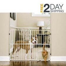 Extra Tall Dog Gate Pet Fence Baby Child Safety Wide Indoor Expandable Metal Cat