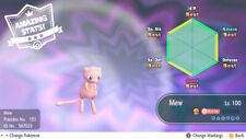 Pokemon Lets Go Pikachu & Eevee Mew & shiny Melmetal PokeBall Plus Switch 6 IV