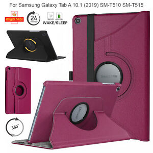 """Case For Samsung Galaxy Tab A 10.1"""" 2019 Leather Rotating 360 Degree Stand Cover"""