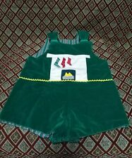 Thee and Me Vintage Reversible Jumper Overall Romper Shorts Christmas Stockings